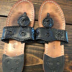 Jack Rogers Black Sandals
